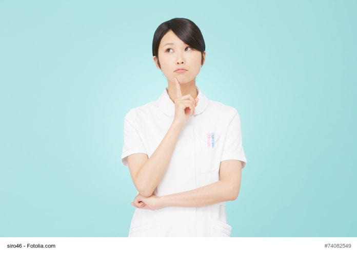 Nurse in Thought Image