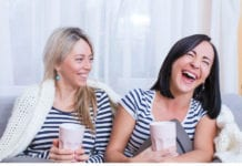 2 ladies laughing image