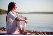 woman relaxing image