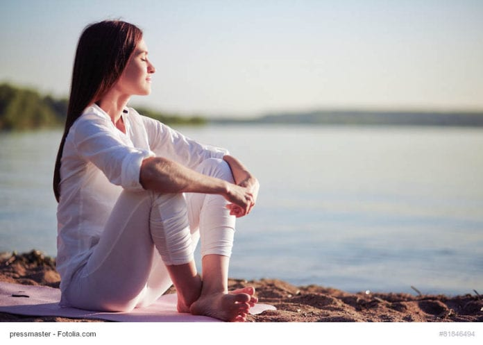 woman relaxing image