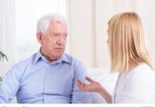 Nurse and Old Man Image