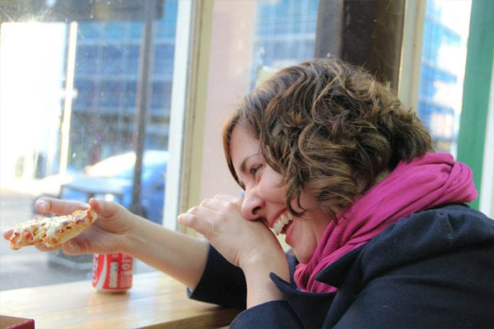 Lady Laughing Image