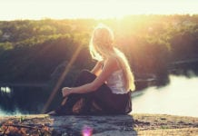Girl Looking Into The Sun Image