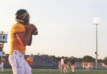 """ High school football player"""