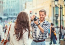 Couple Taking Photos Image