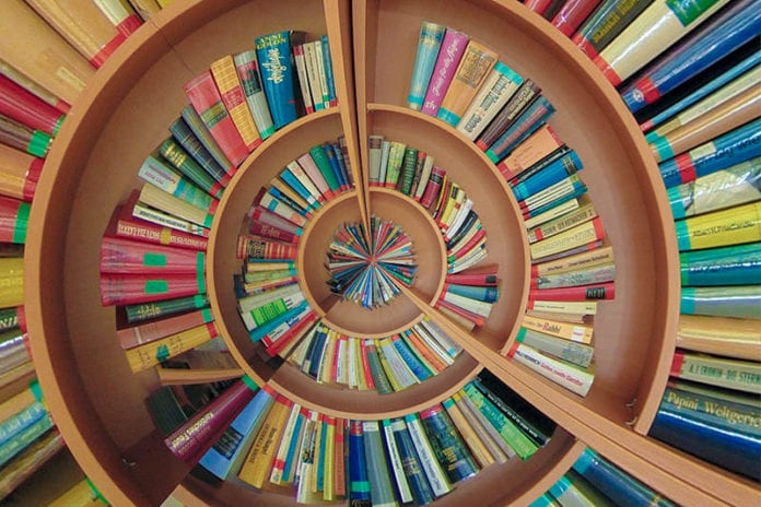 Spiral of Books Image
