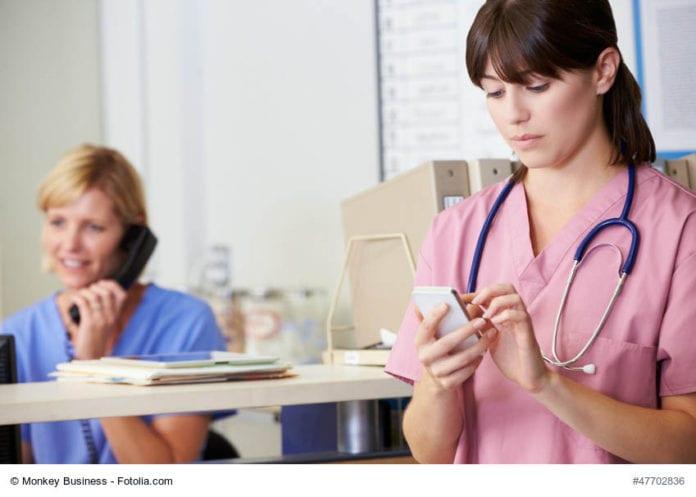 Nurse Texting Image