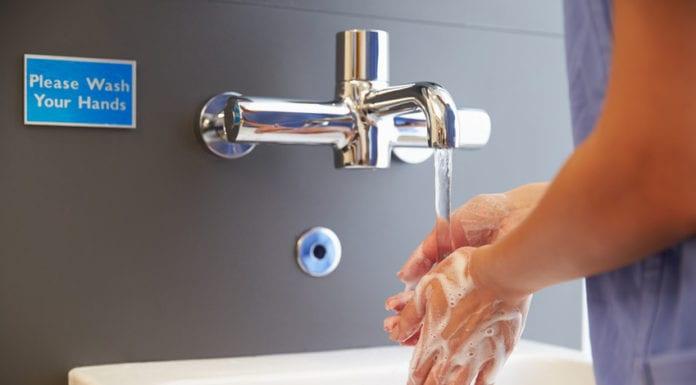 Medical Staff Washing Hands Image
