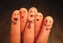 """Five happy finger puppets"""