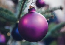 """Purple ornament"""