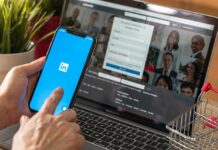 Woman searching for her dream job through LinkedIn