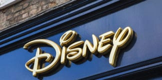 """Close-up Disney sign"""