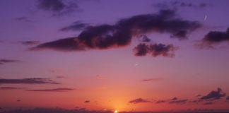 """Beautiful purple sunset"""