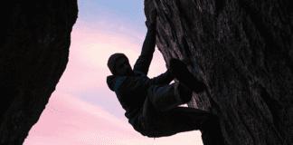 """""""Person rock climbing"""""""