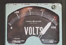 """""""Vintage baby blue volt meter"""""""