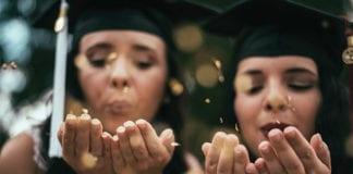 """Two graduating girls"""