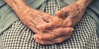 """""""Elderly woman's hands"""""""