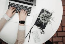 """""""Woman blogging"""""""