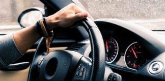 """Arm holding steering wheel"""