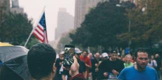 """People running marathon"""