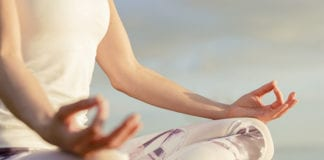 """Woman meditating"""
